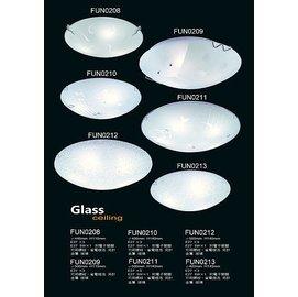 ^~Fun照明^~ 簡單 玻璃 吸頂燈 三燈 五燈  E27燈頭 2^~3坪  客廳 房間