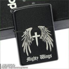 ZIPPO原廠打火機-日系-Mighty Wings系列- 珍珠黑色款