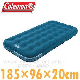 【美國Coleman】DURAREST輕量耐用氣墊床TWIN.充氣床.充氣睡墊.露營睡墊.床墊/185×96×20cm.雙段空氣閥/CM-21932