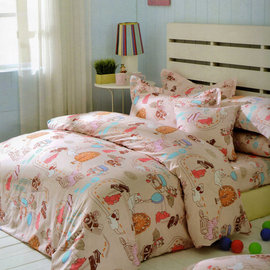 【艾莉絲-貝倫】旅行手札-單人二件式(柔絲棉)枕套床包組[台灣製造]-T2P-3005-S