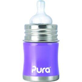 【紫貝殼】『KC01』美國 Pura Stainless Kiki 不鏽鋼奶瓶(寬口徑/紫) 5oz =150ml 不含雙酚A 【保證原廠公司貨】