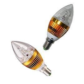 ~富雅~LED 3瓦 1瓦 大功率燈珠~蠟燭燈泡 可取代傳統蠟燭燈泡 大幅度降低水晶燈飾的