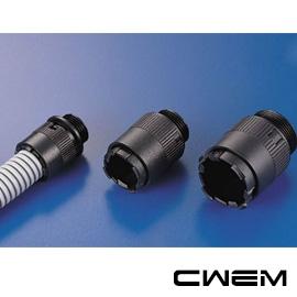 ~和旺電配~CWPAQ~1716  型浪管固定頭 螺紋外徑22.5mm 附螺帽 PG規格