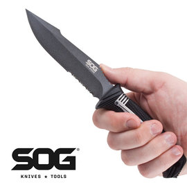 ~詮國~SOG Seal Strike 海豹菁英戰術直刀  AUS~8不�袗�  鐵灰雙齒