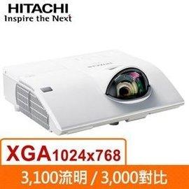 HITACHI CP~CX300WN 3100流明 短焦投影機 短距投影機~可 無線投影模