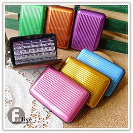 【Q禮品】A2413 行李箱名片盒/立體風琴式信用卡夾/證件夾/名片夾/悠遊卡夾/名片置物盒/金屬行李箱