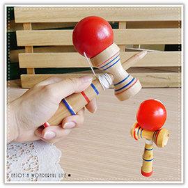 【Q禮品】B2418 木製劍玉-中/日月球/日本童玩/劍玉/劍球/技巧球/懷舊童玩