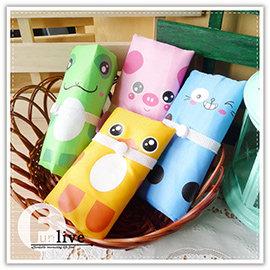 【winshop】A2429 動物釦式折疊購物袋/可愛動物環保購物袋/卡通購物袋/摺疊購物袋/肩背包/摺疊收納袋/手提袋