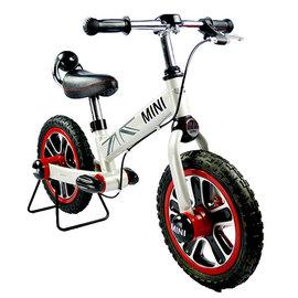 【電話訂購現折/單台4500含運】『CK06-3』英國授權Mini Cooper兒童滑步平衡車12吋(白)(腳架另購)【贈:草本抗菌洗手乳250ml/原價399元】