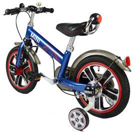 【紫貝殼】『CK06-5』英國原廠授權Mini Cooper 兒童腳踏車14吋(藍)【贈純植物精油防蚊液 60ml】