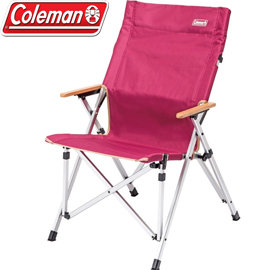 丹大戶外~Coleman~美國輕鬆舒壓鋁製折疊椅 人體工學 耐重100kg 木製扶手 CM