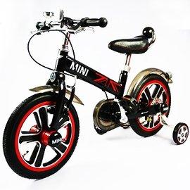 【電話訂購現折/單台5600含運】『CK06-7』英國原廠授權Mini Cooper 兒童腳踏車14吋(黑)【贈純植物精油防蚊液 60ml】