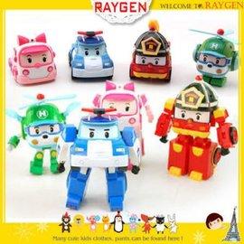玩具 卡通 ROBOCAR POLI 迷你百變機器人 造型車 公仔玩具 一組【HH婦幼館】