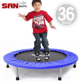【SAN SPORTS 山司伯特】跳跳樂36吋彈跳床C144-36跳跳床彈簧床彈跳樂彈跳器平衡感兒童遊戲床運動健身器材推薦哪裡買