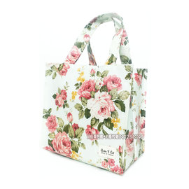 ~貝格美包館~ 小便當袋 粉玫瑰 皇后與貓 防水包 便當袋 手提袋 補習袋 台中市可