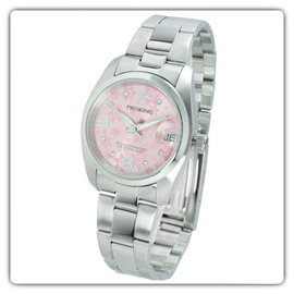 PROKING  粉  皇冠繽紛燦爛點鑽鐵帶錶 男錶 女錶 中性錶