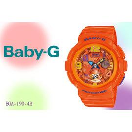 ~時間道~〔BABY~G~錶〕地球表面城市系列 橘 ^(BGA~190~4B^)免
