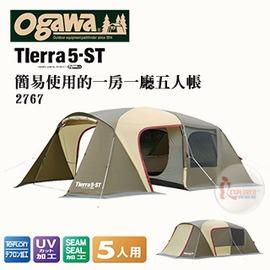探險家露營帳篷㊣TIERRA 5-ST日本OGAWA 一房一廳 五人帳棚 SNOW PEAK同等級 職人品質別墅帳蓬客廳帳篷