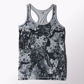 Adidas~ ClimaLite系列 健身 有氧 慢 運動背心-灰 (S16406)