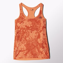 Adidas~ ClimaLite系列 健身 有氧 慢 運動背心-橘 (S16407)