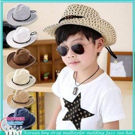 帽子 兒童 防曬 草帽 遮陽帽 爵士帽 紳士帽 帽子【HH婦幼館】