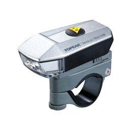 【TOPEAK正品】公路車充電前燈 AEROLUX 1WATT /USB充電環保/ 小尺寸高亮度