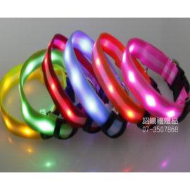 詔暘禮贈品 ~大量訂製品~MY~0022 2.5雙麵條紋燈帶項圈 LED 發光項圈