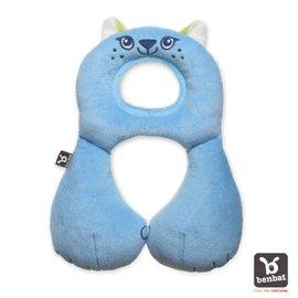 【紫貝殼】『BE02』【以色列Benbat】寶寶旅行頸枕/頭枕  適用1-4歲  藍貓咪【保證公司貨●品質有保證●非水貨】
