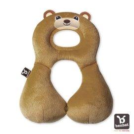 【紫貝殼】『BE02』【以色列Benbat】寶寶旅行頸枕/頭枕  適用1-4歲  棕熊【保證公司貨●品質有保證●非水貨】