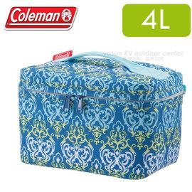 【美國Coleman】藍葉圖騰保冷袋4L .保冰袋.保溫袋.野餐盒.便當袋.午餐袋.冰桶.保冷箱/CM-22228