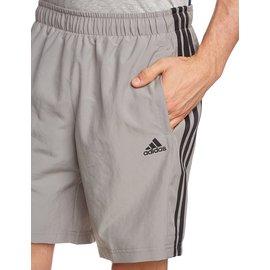 Adidas~Essentials 3-Stripes 慢跑 路跑 平織短褲-灰 (S17886)