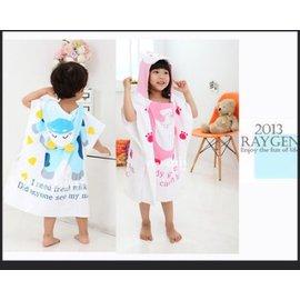 浴巾 可愛卡通動物造型純棉毛巾料寶寶浴衣/浴袍/沙灘巾【HH婦幼館】