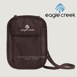 【美國 Eagle Creek】Undercover Neck Wallet 安全旅行貼身掛袋/隨身暗袋.斜背包.證件袋.隨身袋.防竊_摩卡咖 ECD41127050