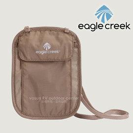 【美國 Eagle Creek】Undercover Neck Wallet 安全旅行貼身掛袋/隨身暗袋.斜背包.證件袋.隨身袋.防竊_卡其 ECD41127091