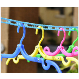 便攜式 魔術塑膠防滑衣架/旅行衣架/可折疊衣架/曬衣繩新料