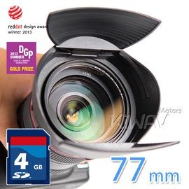又敗家~ Hoocap TR77半自動77mm鏡頭蓋77mm遮光罩Sigma 50mm 8