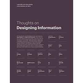 THOUGHTS ON DESIGNING INFORMATION^(9783037784