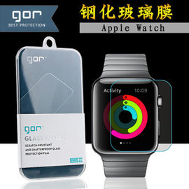 ~YOUP~Apple Watch 38 42 mm^(2片裝^) Gor鋼化玻璃保護膜