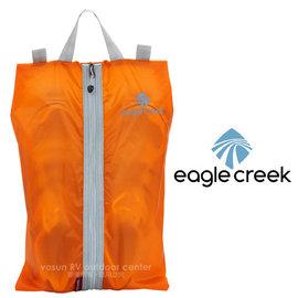 【美國 Eagle Creek】Pack-It Specter Shoe Sac旅行鞋子收納袋/旅行包.打理包/可收納平底鞋.低筒鞋_烈焰橘 ECD41239136