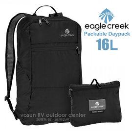 【美國 Eagle Creek】Packable Daypac 16L輕量折疊後背包/攻頂包.休閒背包.雙肩背包.運動背包.健行登山背包_黑 ECD41247010