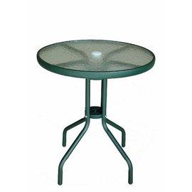 ~三A傢俱~2~62 強化玻璃戶外休閒圓桌 ^~ 有傘孔 ^~ ^(戶外休閒桌 桌椅 餐桌
