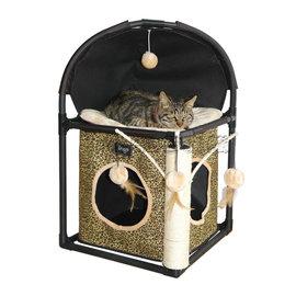 IRIS~3852豪華森林豹紋貓跳台~組裝超簡單