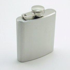 隨身小酒壺 4oz 約120cc 口袋型酒壺尺寸:78x70x19mm 方扁不�袗� 銀面