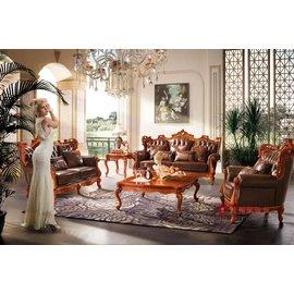 ^~紅蘋果傢俱^~ A803T 艾廷軒系列 歐式沙發 法式沙發 新古典 布 皮沙發 實木雕