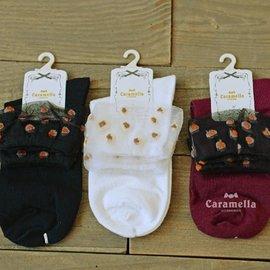 女士棉襪 提花彩色圓點羅口 全棉襪子^(顏色 發貨^)~AF02116~ i~style
