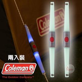 探險家戶外用品㊣CM-23133 美國Coleman 營繩警示燈2入裝 營繩燈裝飾燈小夜燈青蛙燈串燈LED露營燈