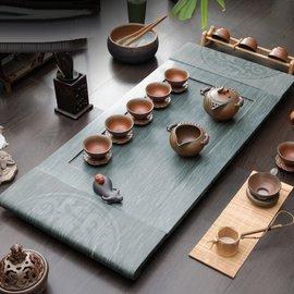 5Cgo ~ 七天交貨~41465100150 三圓開泰綠檀木紋石茶盤茶臺茶船翠綠玉石茶海