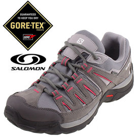 Salomon NORWOOD 女 GTX 登山健行鞋 錫灰 粉紅 戶外 登山鞋 3731