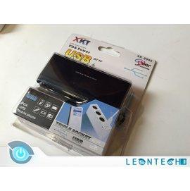XKT XK~0096 1對3孔點煙孔 USB單孔車充 點煙孔充 車用充電延長線擴充轉換器