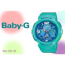 ~時間道~~CASIO~BABY~G ~地球表面城市夏日系列 藍綠 ^(BGA~190~3